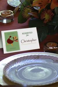 Thanksgiving dinner table placeholder