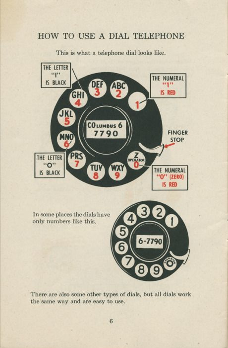 dial telephone instructions