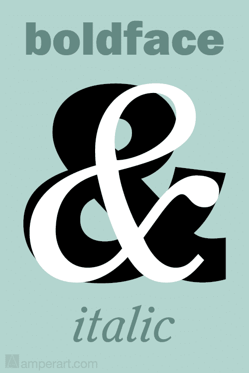 AmperArt Boldface & Italic