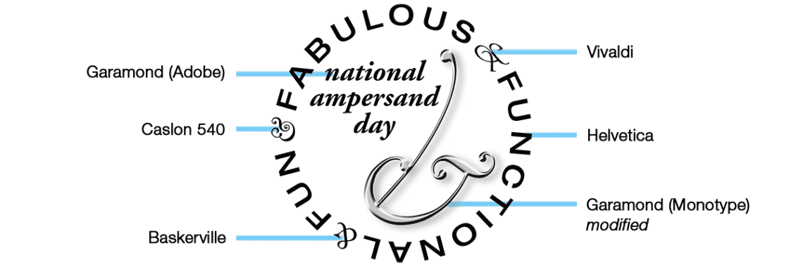 National Ampersand Day logo type specs