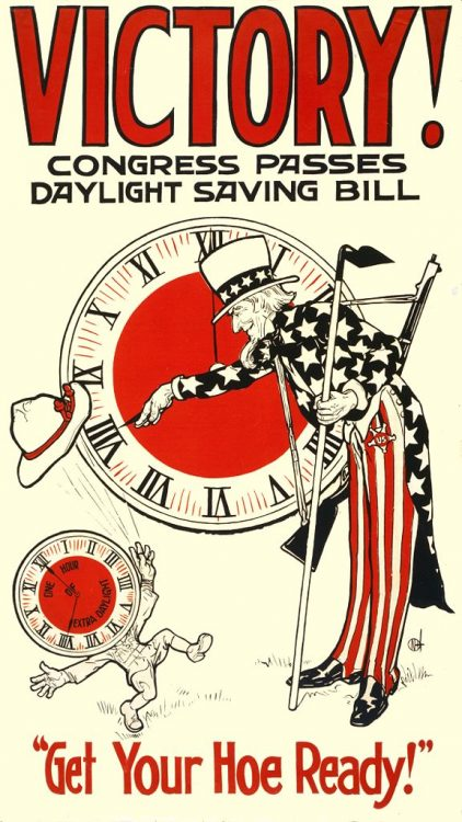 Poster announcing Daylight Saving Bill