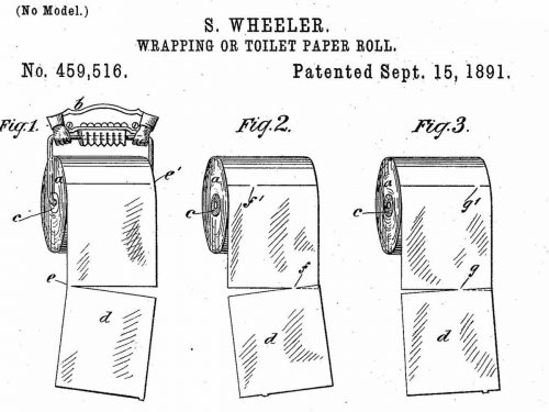 Toilet paper patent drawing