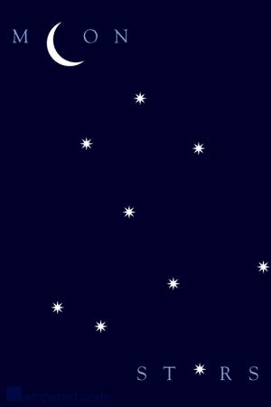 #115 Moon & Stars