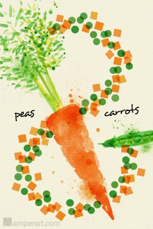#132 Peas & Carrots